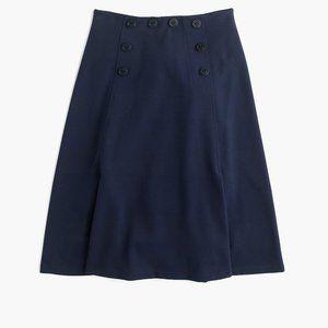 J Crew Sailor Button Navy Nautical Pointe Skirt